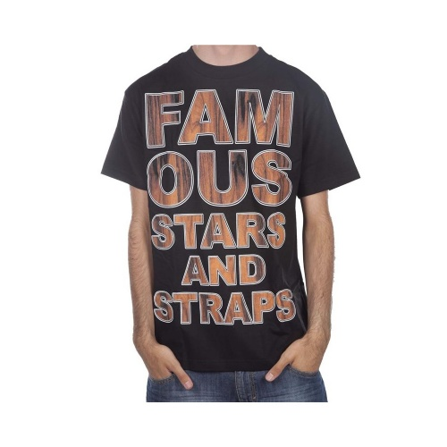 T-Shirt Famous Stars&Straps. Coloris: noir/marrone.