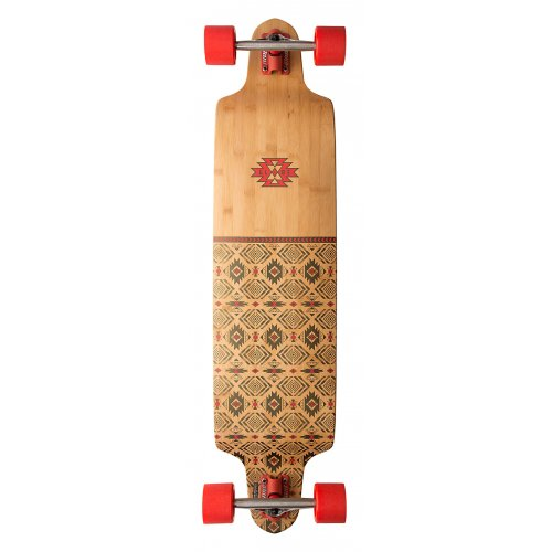 Longboard Complet Globe: Bannerstone Red/Bamboo