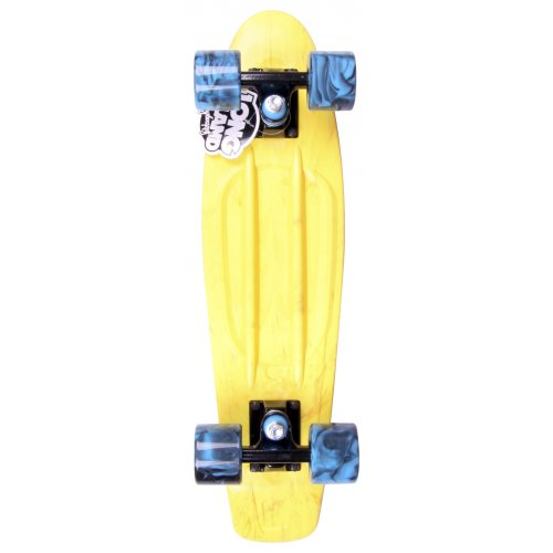 Cruiser Long Island Skateboard: Buddie 15B LI All Over Ice Yellow 22.5""