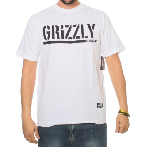 T-Shirt Grizzly: OG Stamp Logo WH