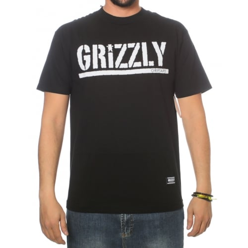 T-Shirt Grizzly: OG Stamp Logo BK
