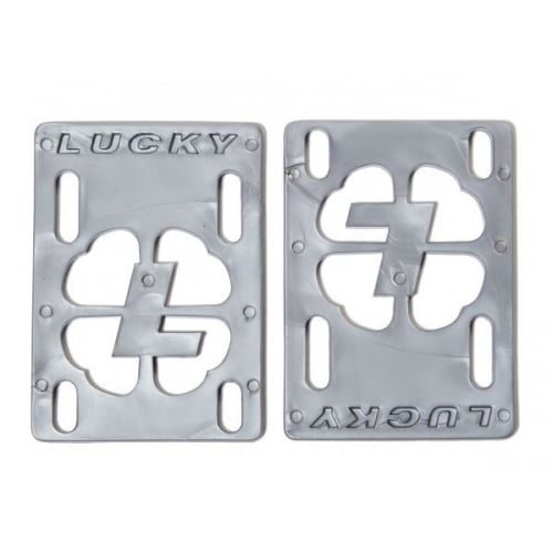 "Pads Lucky: Risers 1/8"" Silver"