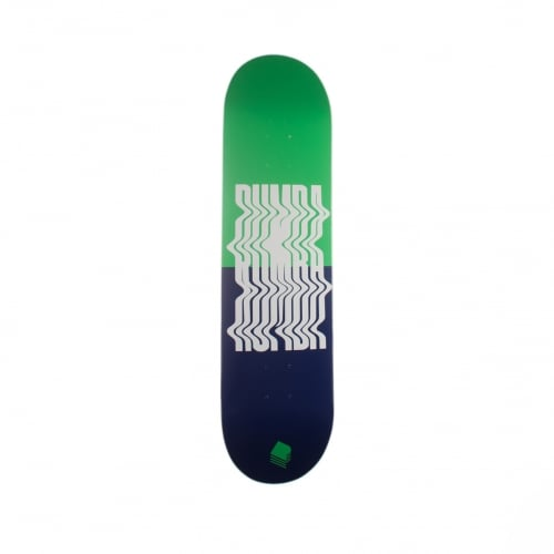Planche Rumba Skateboarding: Distortion Green-Navy 8.2