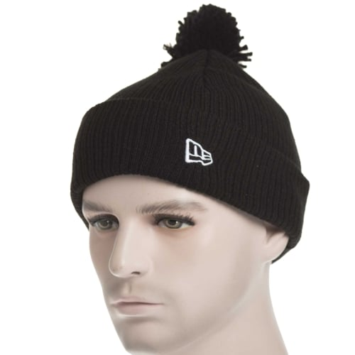 Bonnet New Era: Lightweight Felt Bobble BK