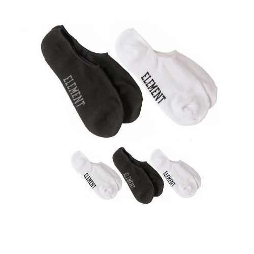 Chaussette Element: Low-Rise Socks 5 Pack WH/BK