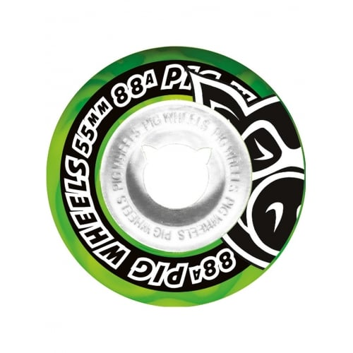 Roues Pig: Street Cruisers New Green (55 mm)