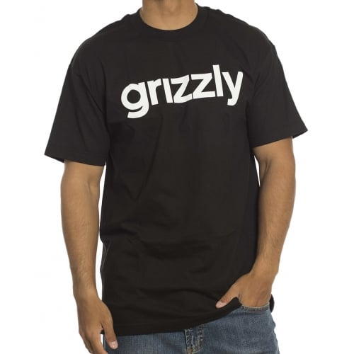 T-Shirt Grizzly: Lowercase BK