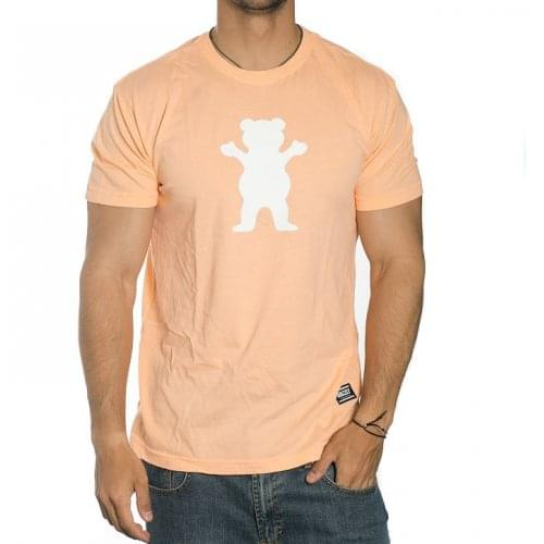 T-Shirt Grizzly: OG Bear Peach/White OR