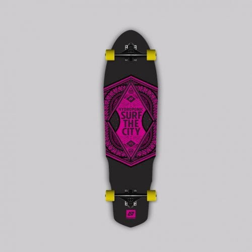 Complete Longboard Hydroponic: SURF THE CITY 2.0 35X9.6 RD