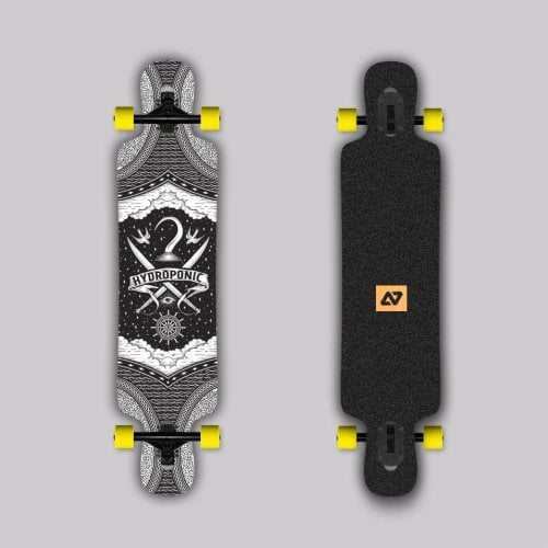 Complete Longboard Hydroponic: DT 3.0 PIRATE 39X8,75