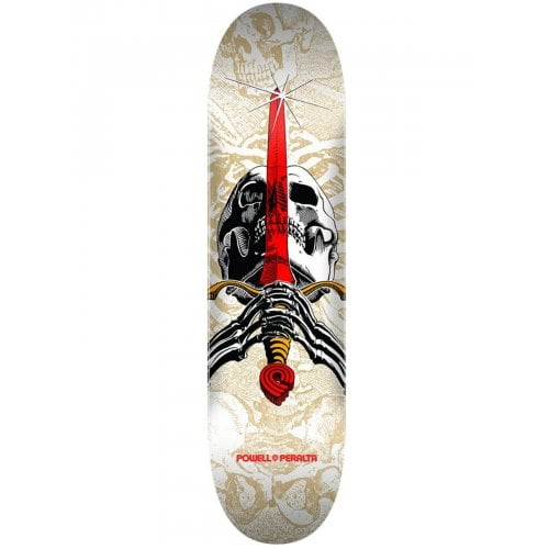 Planche Powell Peralta: Skull & Sword One Off White 7.5