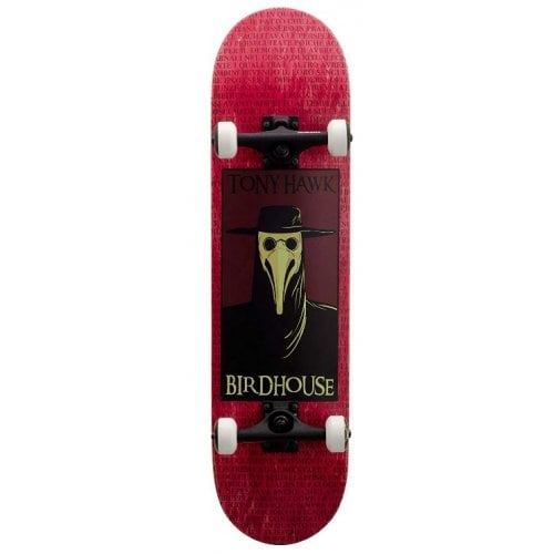 Skate Complet Birdhouse: Stage 3 Plague Doctor Red 8.0