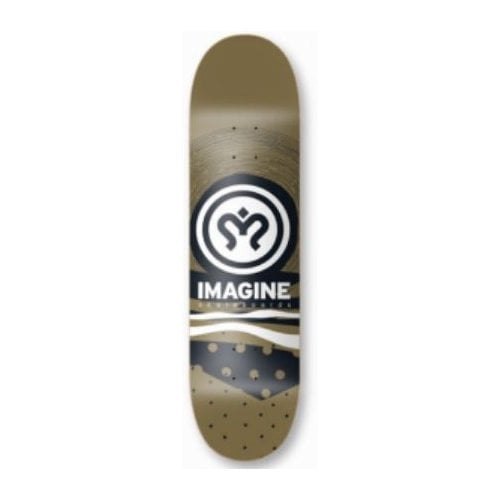 Planche Imagine Skateboards: Metallic Gold 8.1