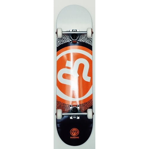 Skate Complet Imagine: Round White Orange 8.0