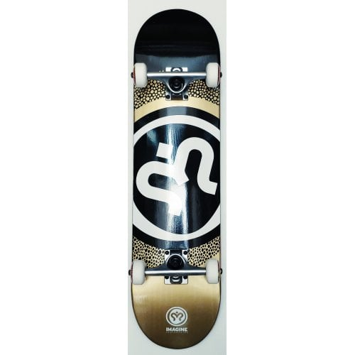 Skate Complet Imagine: Round Black Gold 8.0
