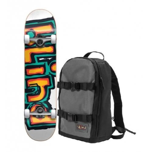 Skate Complet Blind + Backpack: Backpack with First Push OG Matte Orange/Green 7.75