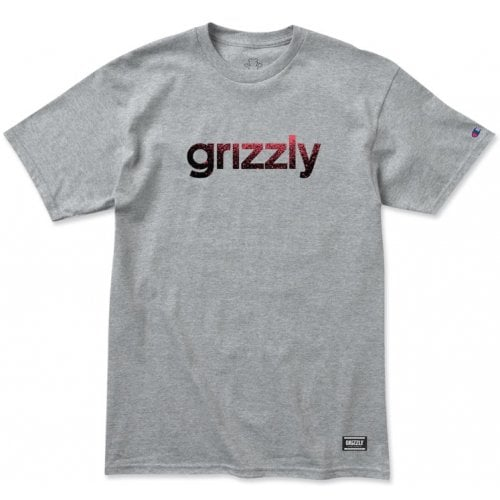 T-Shirt Grizzly: Lowercase Fadeaway GR