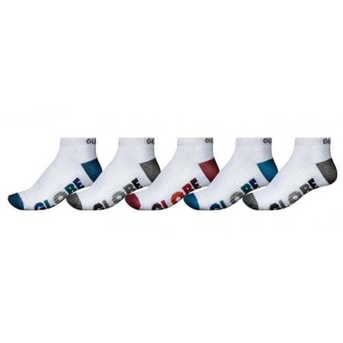 Chaussette Globe: Multi Stripe Ankle Sock 5 Pack WH