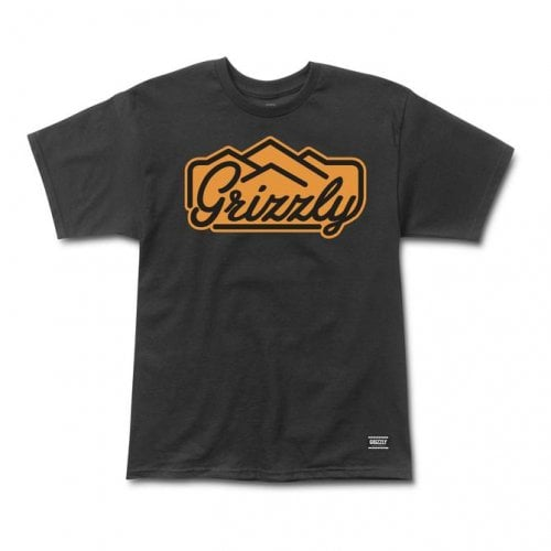 T-Shirt Grizzly: Peacking SS Tee BK