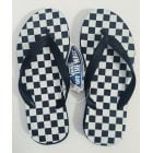 Tongs Vans: Keel Checkerboards BK/WH