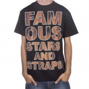 Famous Stars and Straps T-Shirt Famous Stars&Straps. Coloris: noir/marrone.