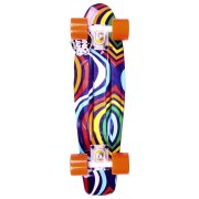 Cruiser Long Island Skateboard: Buddie 15B LI All Over Psychedelic 22.5""