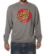 Sweatshirt Santa Cruz: Crew Classic Dot Dark Heather GR