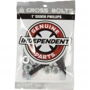 Vis Independent: Cross Bolts Phillips Silver 1""
