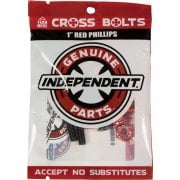 Vis Independent: Cross Bolts Phillips Red 1""