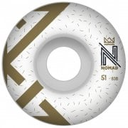 Roues Nomad: Logo White (51 mm)