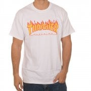 T-Shirt Thrasher: Flame Logo WH