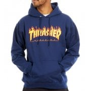 Sweatshirt Thrasher: Flame Logo Hood NV