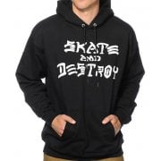Sweatshirt Thrasher: Skate and Destroy Hood BK