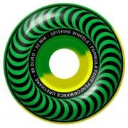 Roues Spitfire: F4 99 Classic Green Yellow Swirl (52 mm)