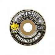 Roues Spitfire: F4 99 Conical Yellow Print (54 mm)