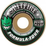 Roues Spitfire: F4 101A Conical Green Print (52 mm)