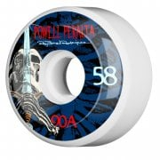 Roues Powell Peralta: Ray Rod Skull & Sword White/Blue 90A (58mm)