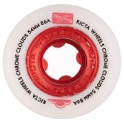 Roues Ricta: Chrome Clouds Red (56mm) 86A
